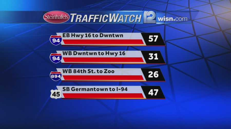 A few accidents reported in the Zoo Interchange and Plainfield Curve this morning - otherwise travel is slow today.