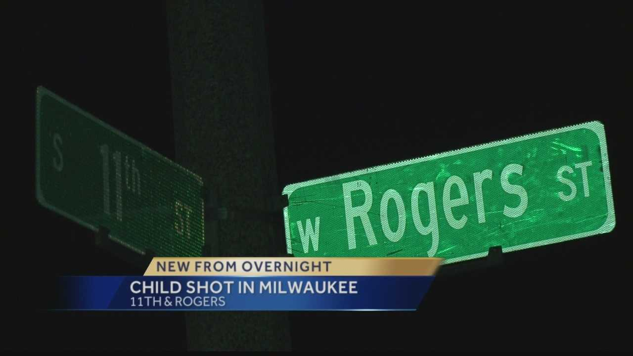 Milwaukee police said a boy was shot near 11th and Rogers Tuesday night.