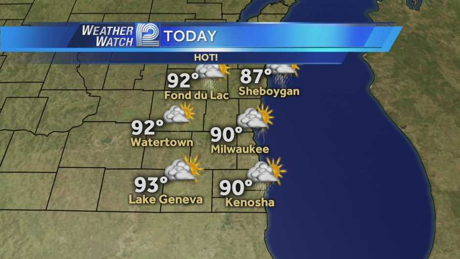 Heat and humidity rule the day Tuesday, but a round of showers and storms late this afternoon should cool us off.