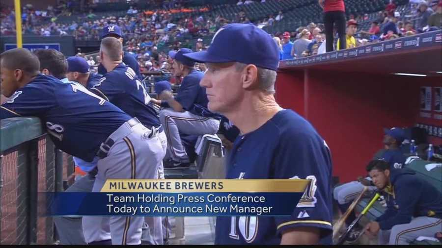 The Milwaukee Brewers will announce a new manager Monday after Ron Roenicke was released.