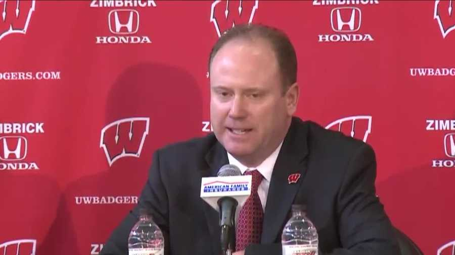Greg Gard was introduced as the new University of Wisconsin men's basketball coach at the Kohl Center in Madison on Tuesday, March 8, 2016.