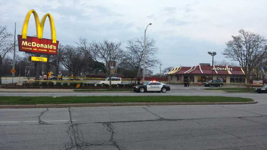 Two people were shot near a McDonald's located at Teutonia and Good Hope streets Sunday night.
