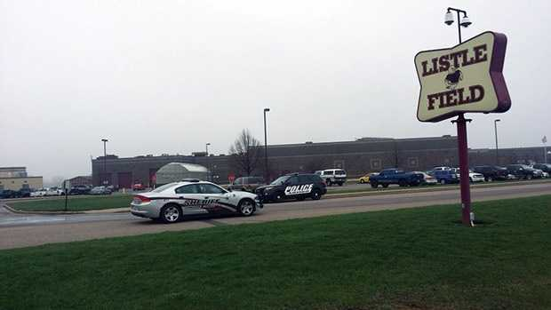 Police remained at Antigo High School on Monday after a weekend shooting at the school's prom.