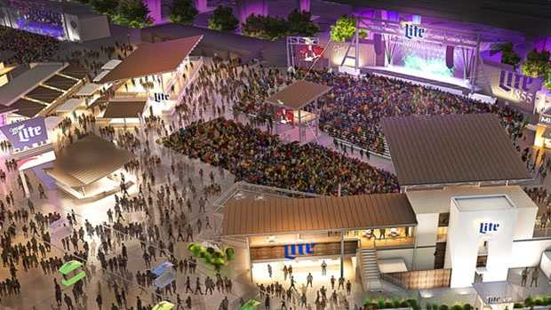 The Miller Lite Oasis on the Summerfest grounds is slated to have a whole new look and visitor experience for the 2017 festival season. | Summerfest.com