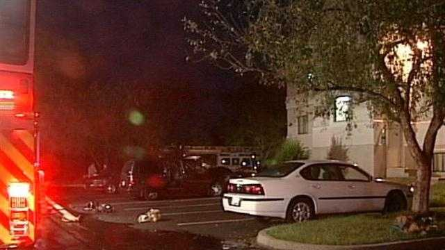 The Extended Stay America hotel caught fire Friday morning