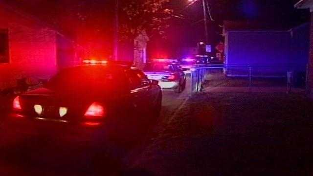 Louisville Metro Police investigate after a man was shot Monday night.