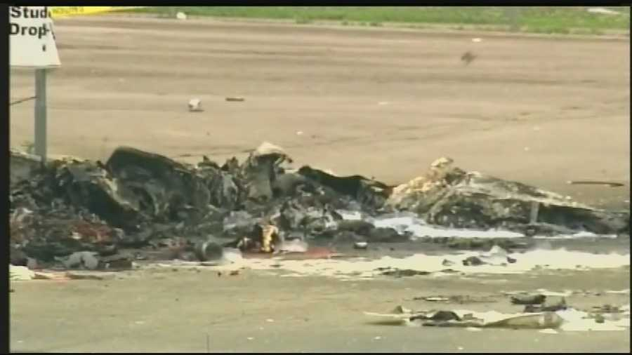 Three people were killed when a medical helicopter crashed.
