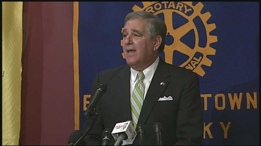 Lt. Gov. Jerry Abramson said at the end of his run as lieutenant governor, he is getting out of politics.