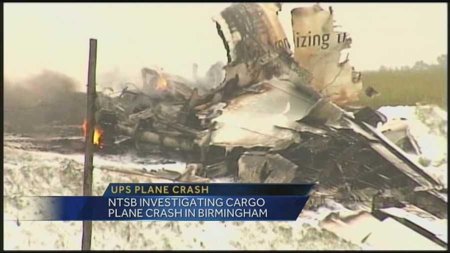 The investigation continues after a UPS cargo plane crashed in Birmingham.