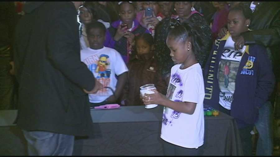 A vigil was held Sunday afternoon for families who lost loved ones too violence.