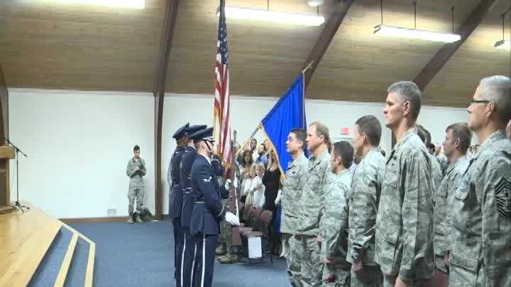 A ceremony is held Sunday to honor members of the Kentucky National Guard.