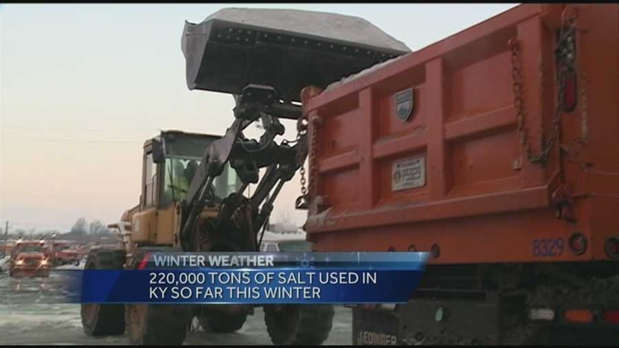 Crews have been working to keep roadways clear after winter weather hit the area.
