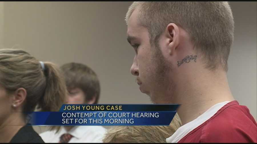 Josh Young will appear in court on contempt of court charges.