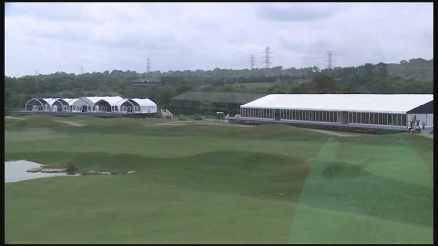 WLKY's Derek Forrest takes a tour of the current construction underway for the PGA Championship at Valhalla.