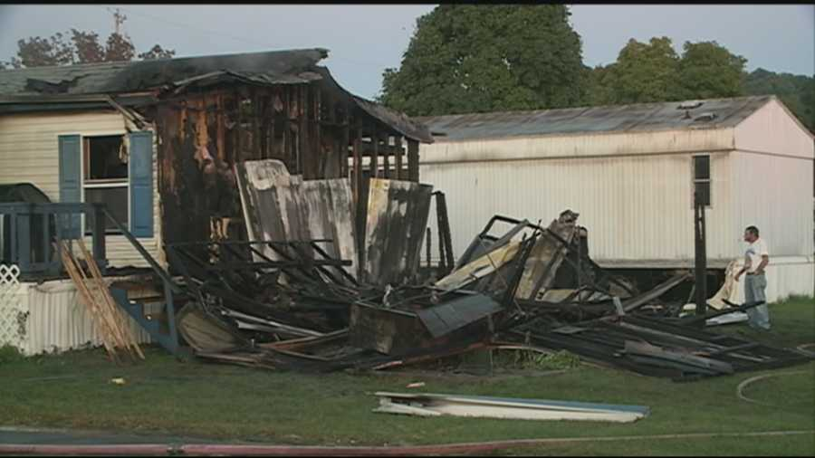 A southwestern Jefferson County couple's mobile home was engulfed in flames by the time Pleasure Ridge Park firefighters arrived.