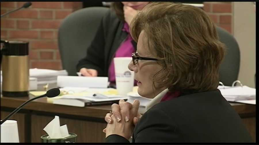 JCPS superintendent Donna Hargans testified Wednesday in a hearing for a high school principal fired because of a cheating scandal.