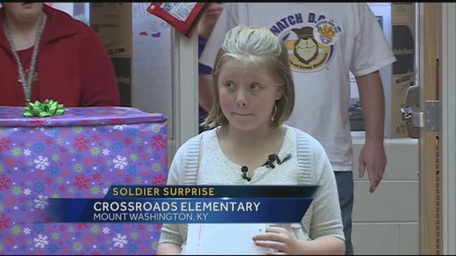 An elementary student's letter about her wish for Christmas, set up a homecoming surprise at her school.
