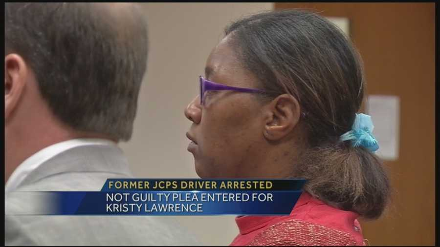 A former JCPS school bus driver appeared before a judge after she was charged with allowing two minors on her bus to engage in oral sex.