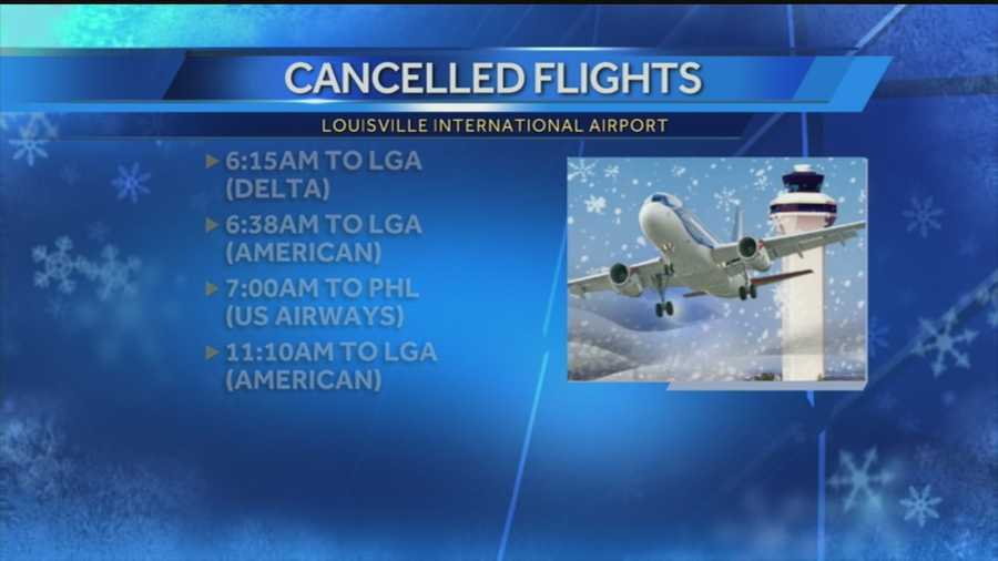 The winter storm on the east coast is causing some travel problems in Louisville.