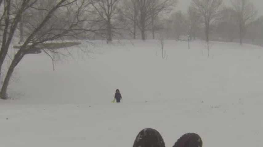 WLKY put a GoPro camera on a sledder at Cherokee Park.