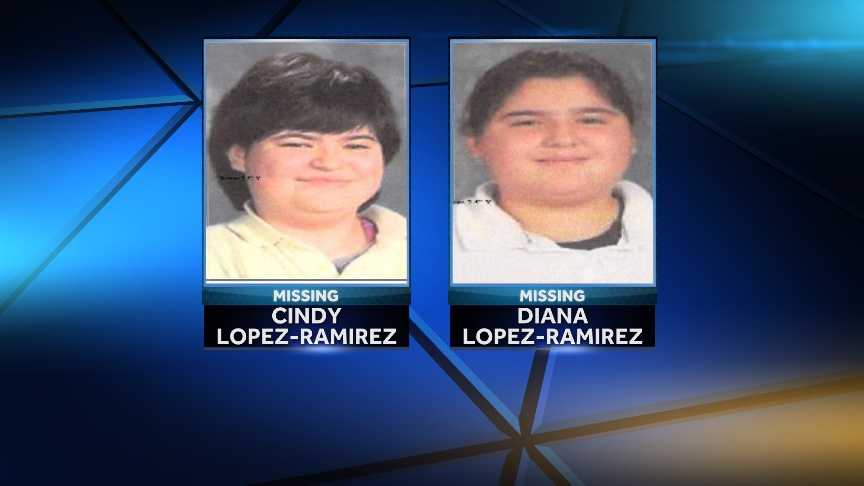 Cindy Lopez-Ramirez, 13, and her sister Diana, 11, are missing.