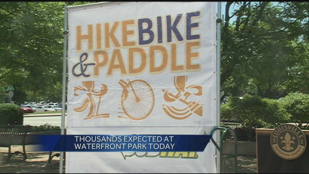 Thousands of people are expected to take part in the mayor's Hike, Bike and Paddle event.