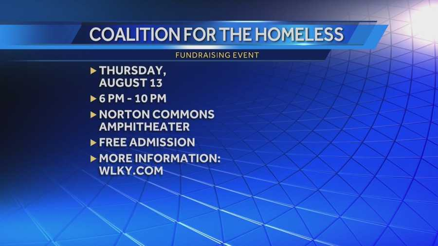 Event benefiting the coalition for the homeless to be held at Norton Common Amphitheater