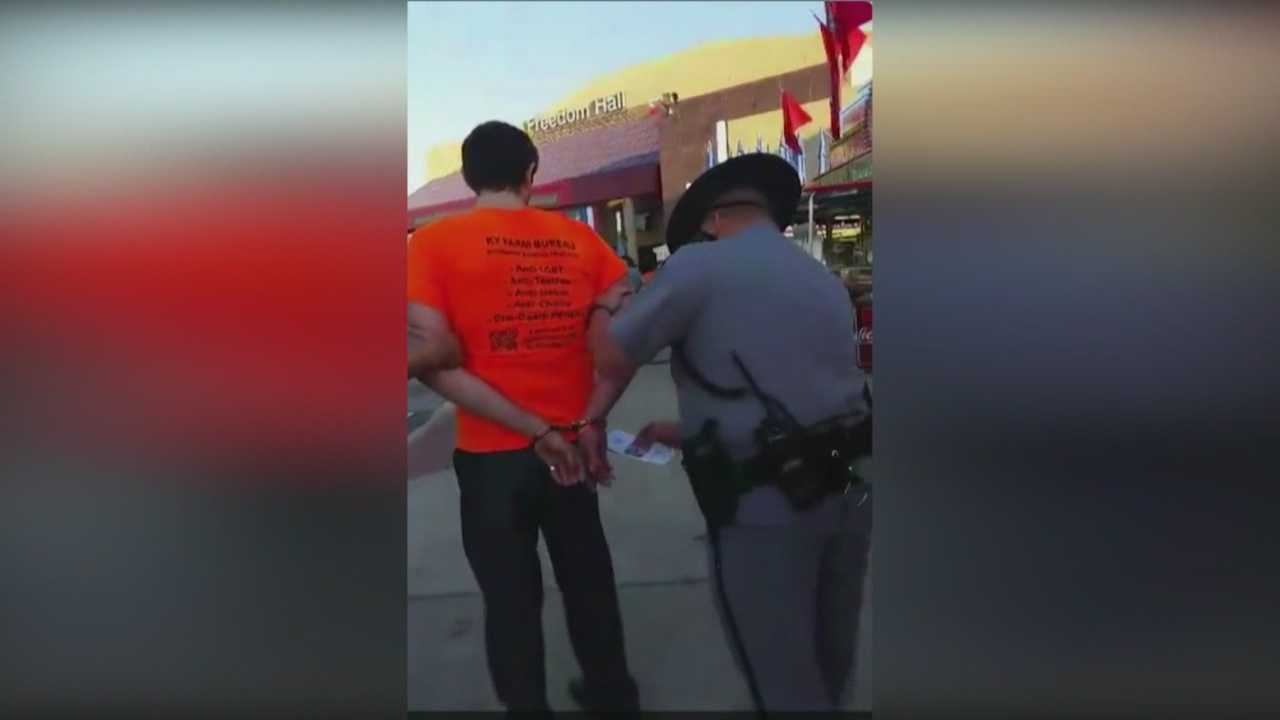 Members of Fairness campaign arrested at Kentucky State Fair
