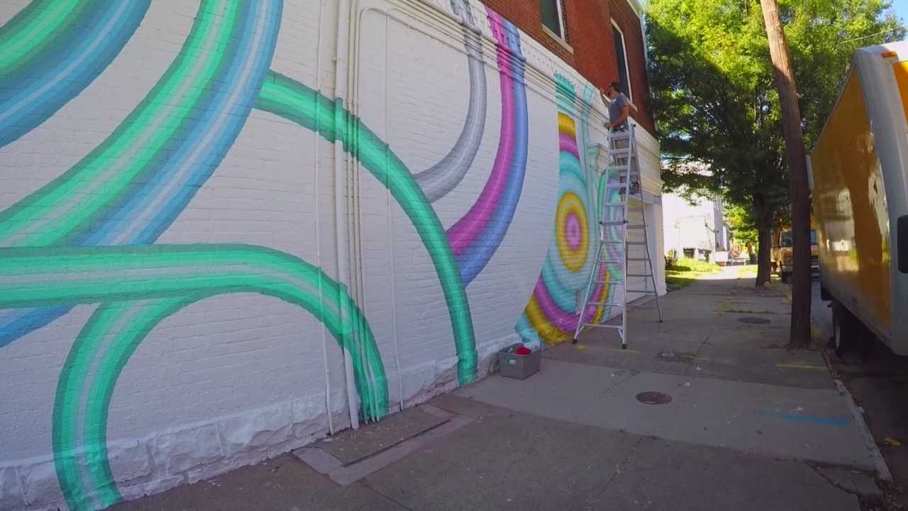 Anyone driving or living in the Shelby Park area might notice a bright new mural on the side of a historic building.