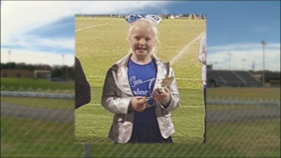 A 7-year-old girl died Saturday after disappearing from a youth football game in southern Kentucky.