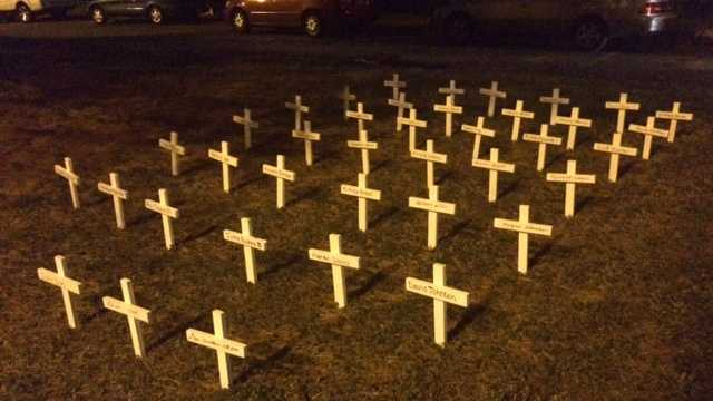 Community members gathered in west Louisville on Wednesday night in honor of all the victims of violence in 2015.