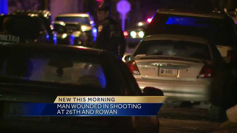 A man was injured in a shooting at 26th and Rowan streets.