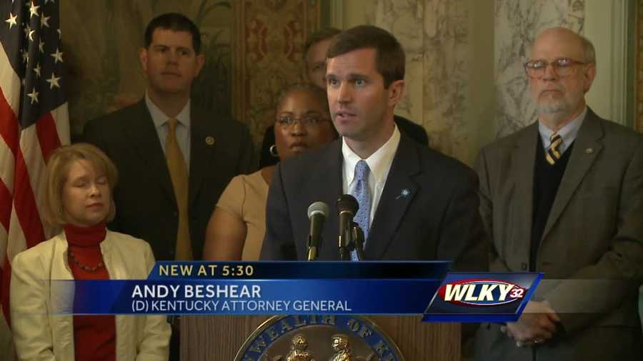 Glenna Bevin and Andy Beshear announced a training program Tuesday aimed at chilld sex abuse prevention.
