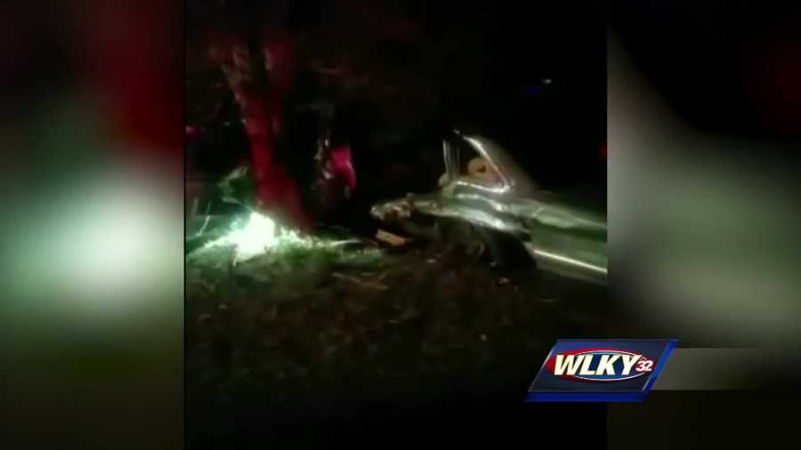 A car crash caught on video left a man in the hospital after Good Samaritans come to the rescue.