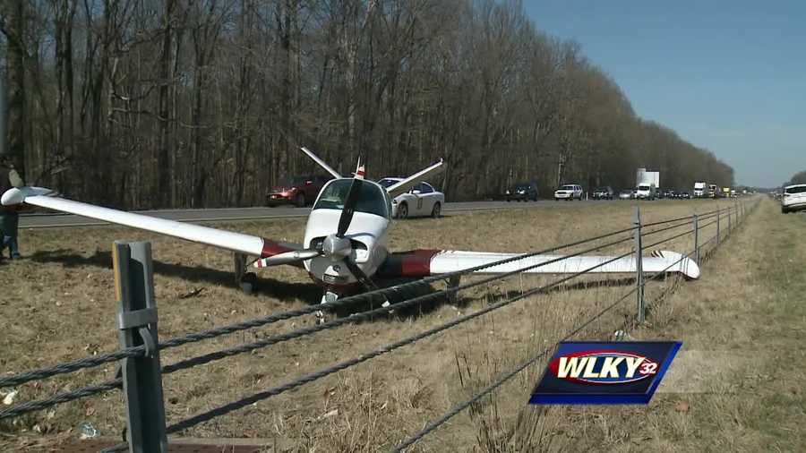 A small plane had to make an emergency landing on I-65 near 42mm.