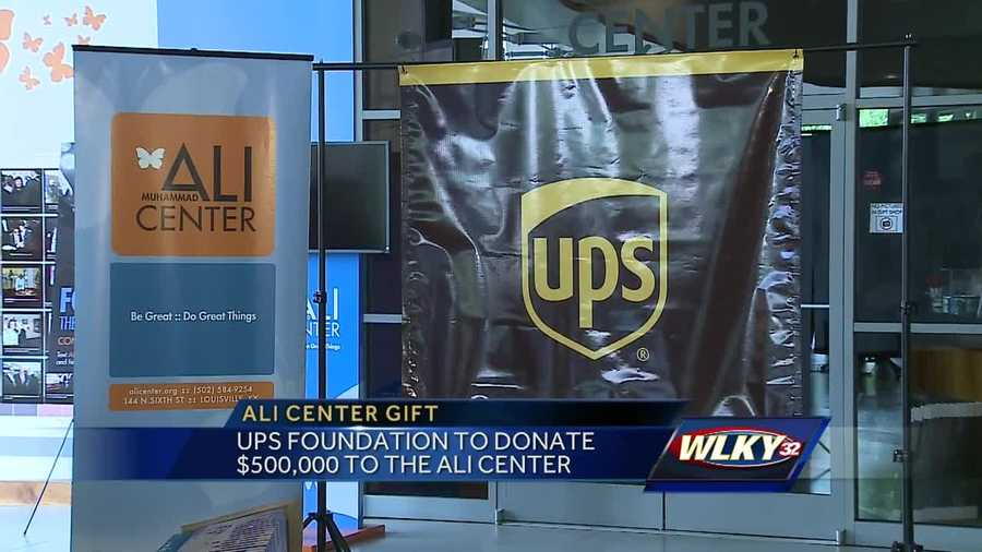 The Muhammad Ali Center announced Monday a $500,000 grant from the UPS Foundation.