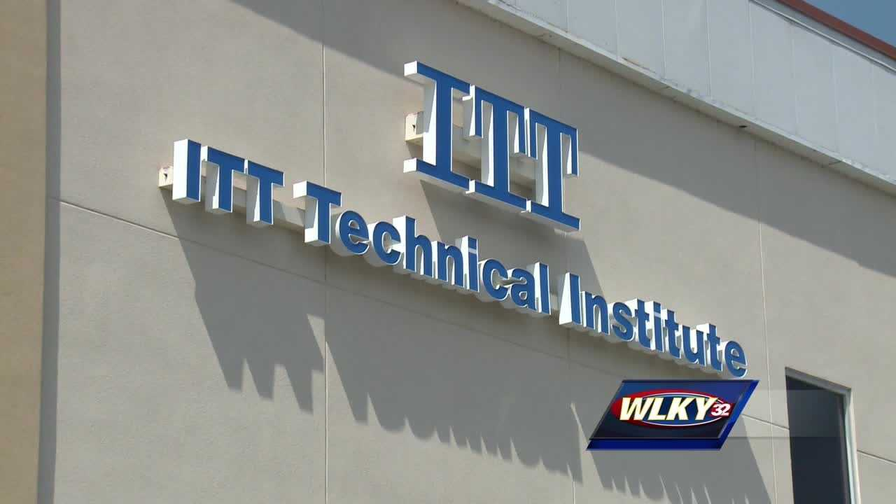 ITT Educational Services, which has campuses in Louisville and Lexington, announced on Tuesday that it is shutting down immediately, accusing the federal government of unfairly stripping it of eligibility for student aid.