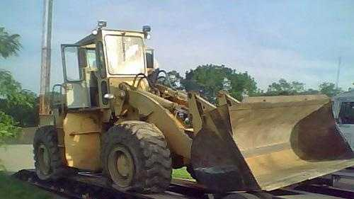 Robert Bradford's front loader was brought to the KSP post in Dry Ridge early Monday morning.