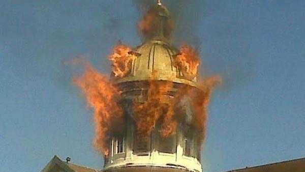 Indiana Courthouse Goes Up In Flames