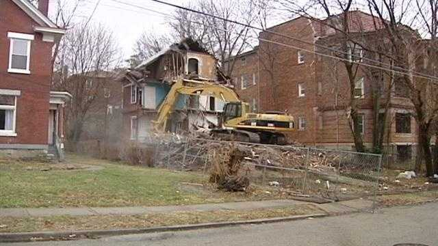 Cincinnati is tearing down hundreds of blighted homes.