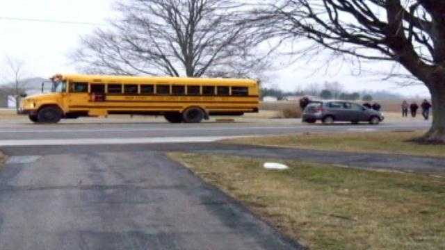 A Union County boy has died after he was struck by a car while getting onto a school bus.