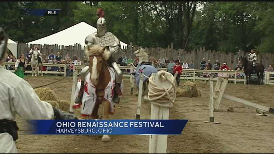 Starting Labor Day weekend, the Ohio Renaissance Festival kicks off in Harveysburg.