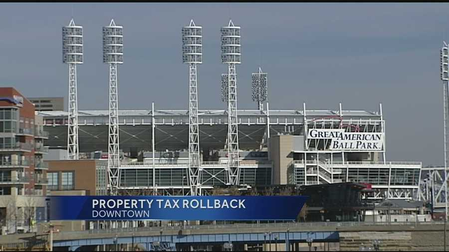 The city of Cincinnati has begun giving homeowners their money back on property taxes after raising them to build the stadium and ball park.