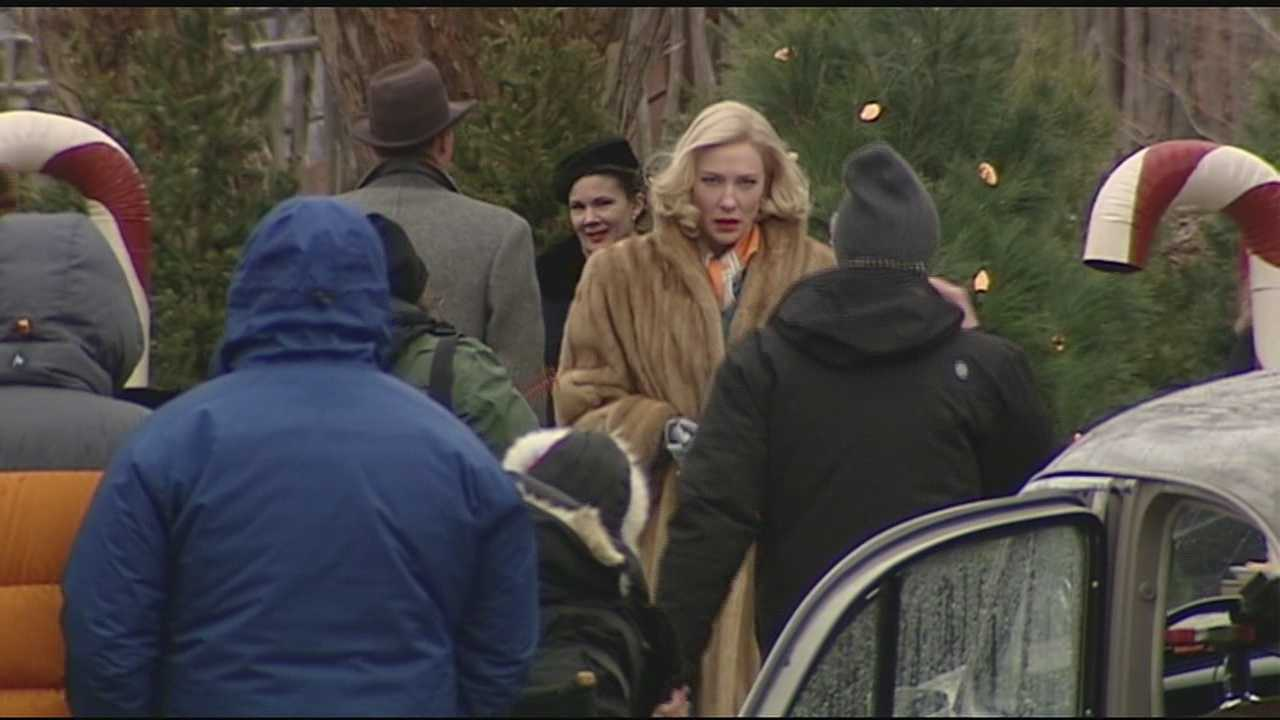 Oscar-winning actress Cate Blanchett is in town to film her new movie Carol.