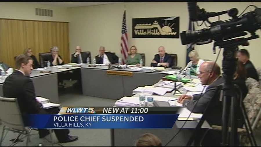 Police Chief Dan Goodenough has been suspended without pay since March 5.