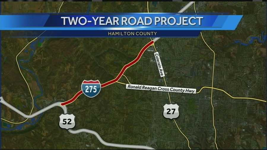 The two-year project will repair and resurface I-275 between I-74 and Colerain Avenue in Hamilton County.