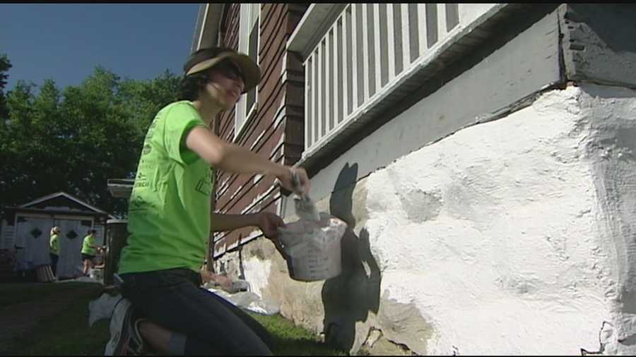 The Paint the Town event offers a helping hand to people who cannot get out and paint their own homes.