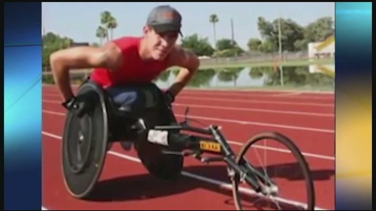 A special racing wheelchair stolen from a paralympic athlete has been recovered. Family members said Erik Hightower's racing chair had been found sitting on a ball field in New Richmond Tuesday morning.