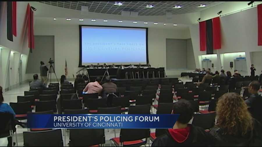 A task force from Washington, D.C., is in Cincinnati holding a forum with one goal in mind: to bring police officers and the community together in the name of safety. Saturday was the second day for the task force forum being held on the University of Cincinnati's campus.