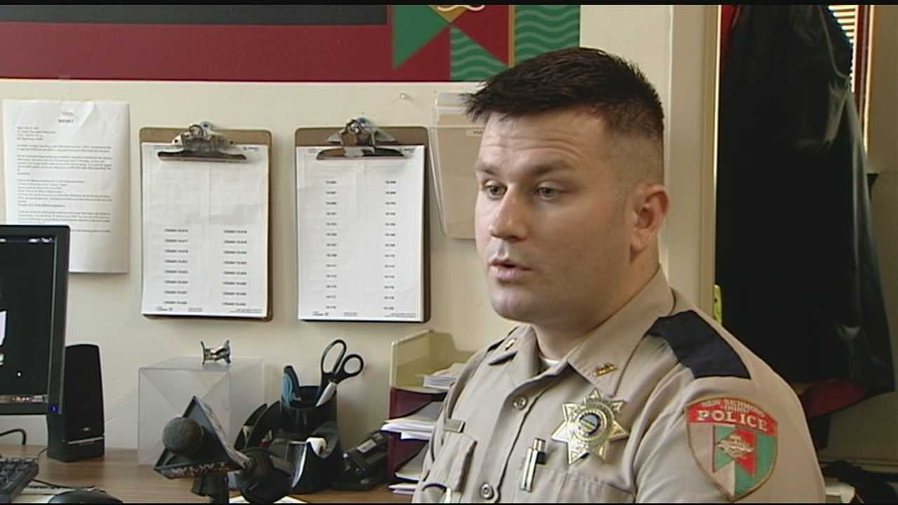 Officer Jesse Kidder has only been on the New Richmond police force for a year, but he did two tours of duty in Iraq as a Marine and he's a Purple Heart recipient.